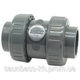 Зворотний клапан ПВХ Effast CDRCBD0320 кульовий, з ущільненням EPDM, d32