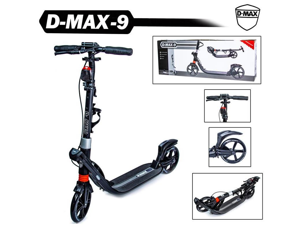 Двоколісний самокат Scale Sports D-Max-9 ручне гальмо Black