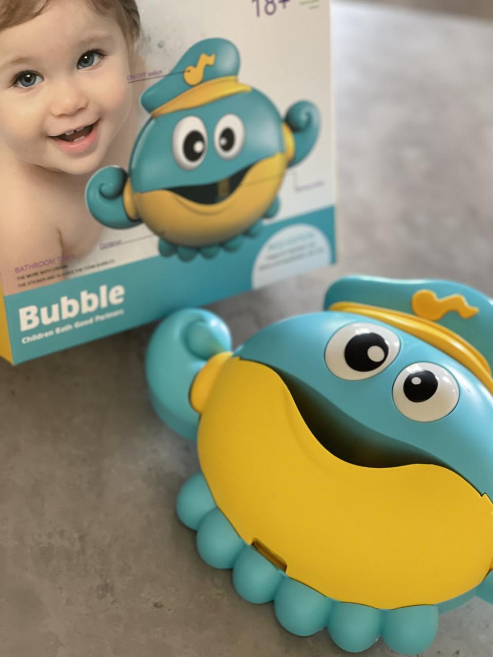 Установка с мыльными пузырями в ванную Осьминог