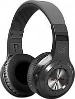 ★Мощная Bluetooth гарнитура Bluedio H+ Black наушники с микрофоном стерео беспроводная microSD fm радио