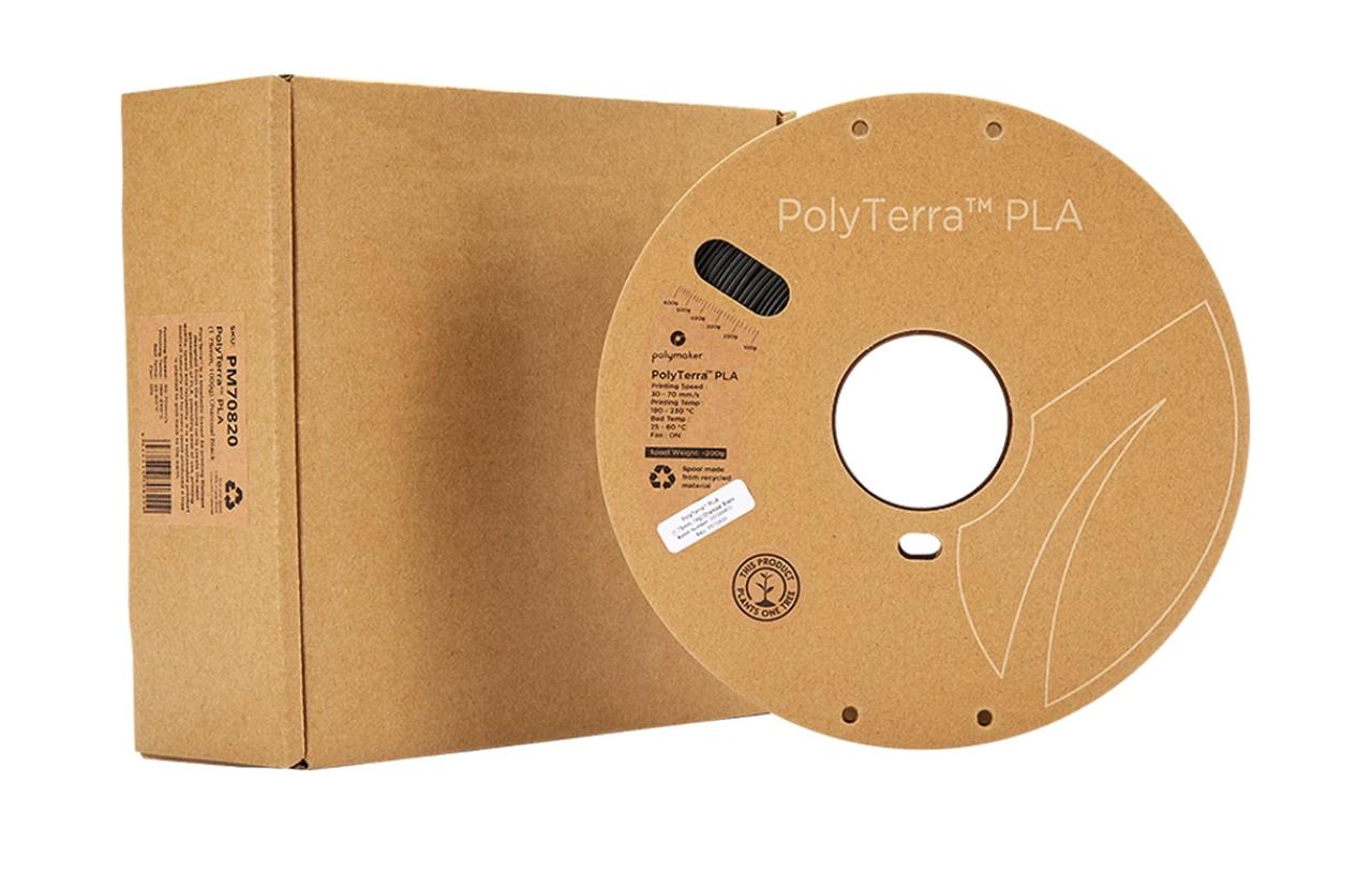 Пластик в котушці PLA PolyTerra 1,75 мм, Polymaker, 1кг