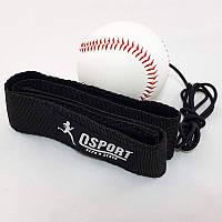 Тренажер fight ball (файт бол) тенісний м'яч для боксу на резинці OSPORT Medium (fl-0132-1)