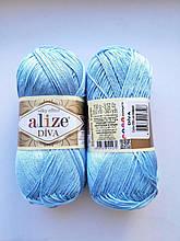 Пряжа Дива (Diva) ALIZE цвет 350 голубой