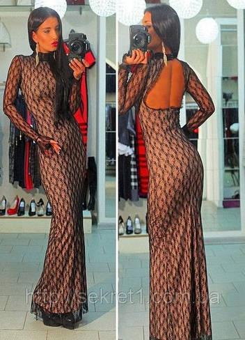 Гипюровое платье 4486
