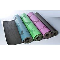 Коврик для йоги и фитнеса (йога мат) резиновый профессиональный OSPORT 5мм (MS 2898)