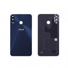 Задняя крышка Asus ZenFone 5 ZE620KL синяя, Midnight Blue, со стеклом камеры, Оригинал Китай