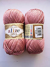 Пряжа Дива (Diva) ALIZE цвет 354 розово-бежевый