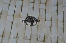 Коннектор для бижутерии  дерево