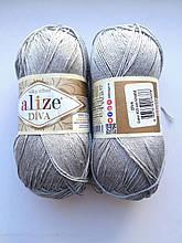 Пряжа Дива (Diva) ALIZE цвет 355 серый светлый