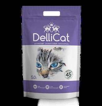 Силикагелевый наполнитель для кошачьих туалетов DelliCat Purple  5.0л