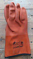 Перчатки утепленные рыбацкие зимние, ПВХ, оранжевые Dragon, фото 1
