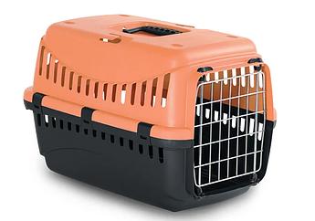 Контейнер-переноска для собак и котов с металлической дверью Gipsy 1 Small Metal Персик 44x28,5x29,5h см