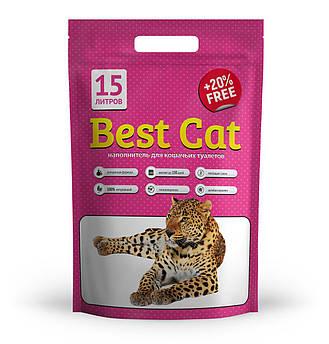 """Силикагелевый наполнитель """"Best Cat"""" Pink Flowers 15л"""