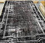 Бамбуковый ковер в черно бело сером винтажном стиле Pierre Cardin в Украине, фото 4