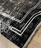 Бамбуковый ковер в черно бело сером винтажном стиле Pierre Cardin в Украине, фото 7