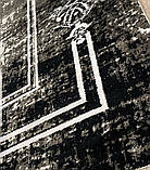 Бамбуковый ковер в черно бело сером винтажном стиле Pierre Cardin в Украине, фото 8