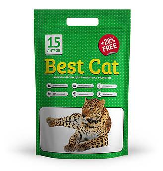 """Силикагелевый наполнитель """"Best Cat""""  Green Apple 15 л"""