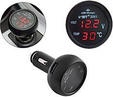 Термометр вольтметр VST 706-1 + USB (3804) #S/O