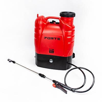 Обприскувач акумуляторний FORTE CL-16a ранцевий 16 літрів