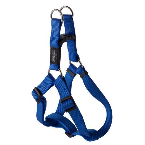 Нейлоновая шлея для собак, синяя Utility Step-In Blue (Рогз) XL: 67-103 см / 40 мм