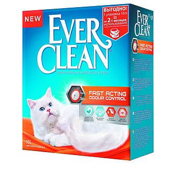 Комкующийся наполнитель Эвер Клин (Ever Clean ) для туалета кошек мгновенный контроль запахов Fast Acting 6 л