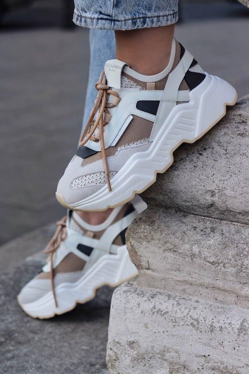 Стильные женские кроссовки D&G