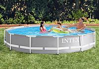 Каркасный бассейн Intex круглый 26710, 366*76 см (объем 6503 л)