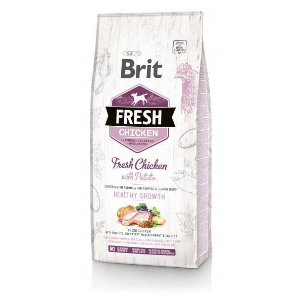 Brit Fresh Chicken/Potato Puppy 12 kg курица,картофель для щенков