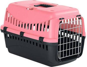 Контейнер-переноска для собак и котов с металлической дверью Gipsy 1 Small Metal коралловый 44x28,5x29,5h см