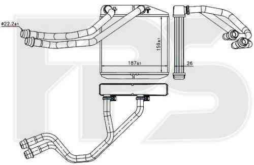 Радіатор пічки Fiat Doblo, Opel Combo c 2010 року (FPS)