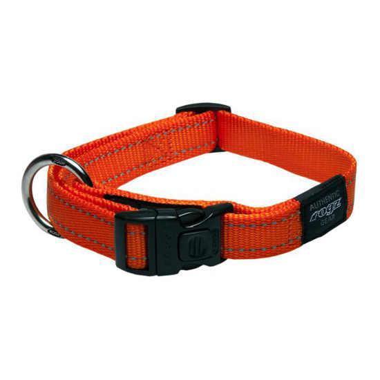 Нейлоновый ошейник для собак, оранжевый Utility Orange (Рогз) L: 34-56 см x 20 мм