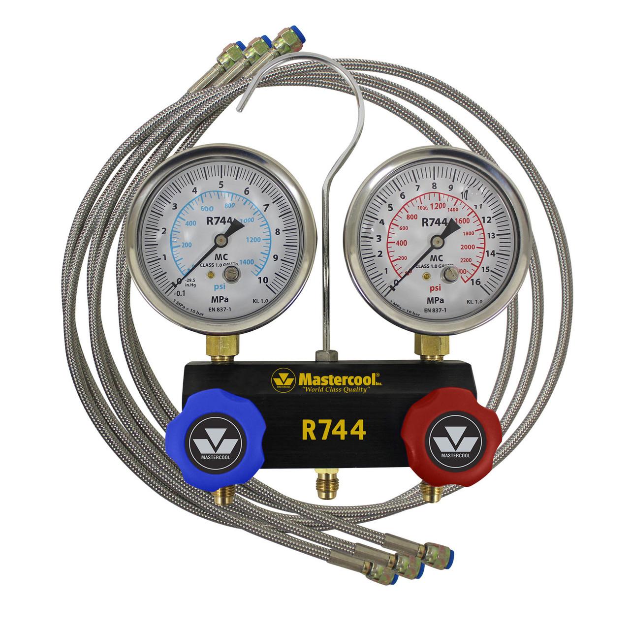 Манометричний колектор 2-х вентильний, шланг 3/150см, для CO2/R744 (Mastercool, США) 55661