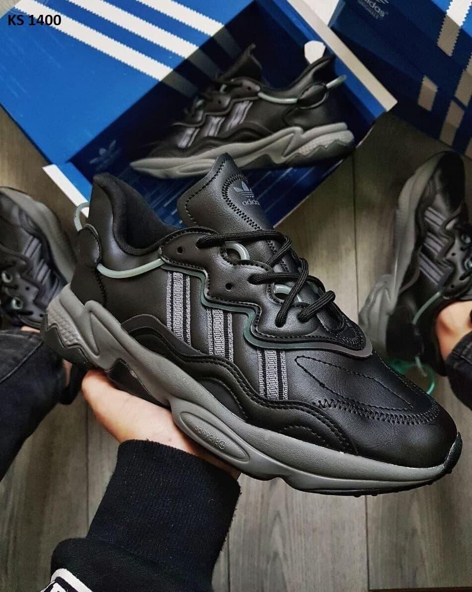 Мужские кроссовки Adidas Ozweego (черные) KS 1400 модные повседневные кроссы
