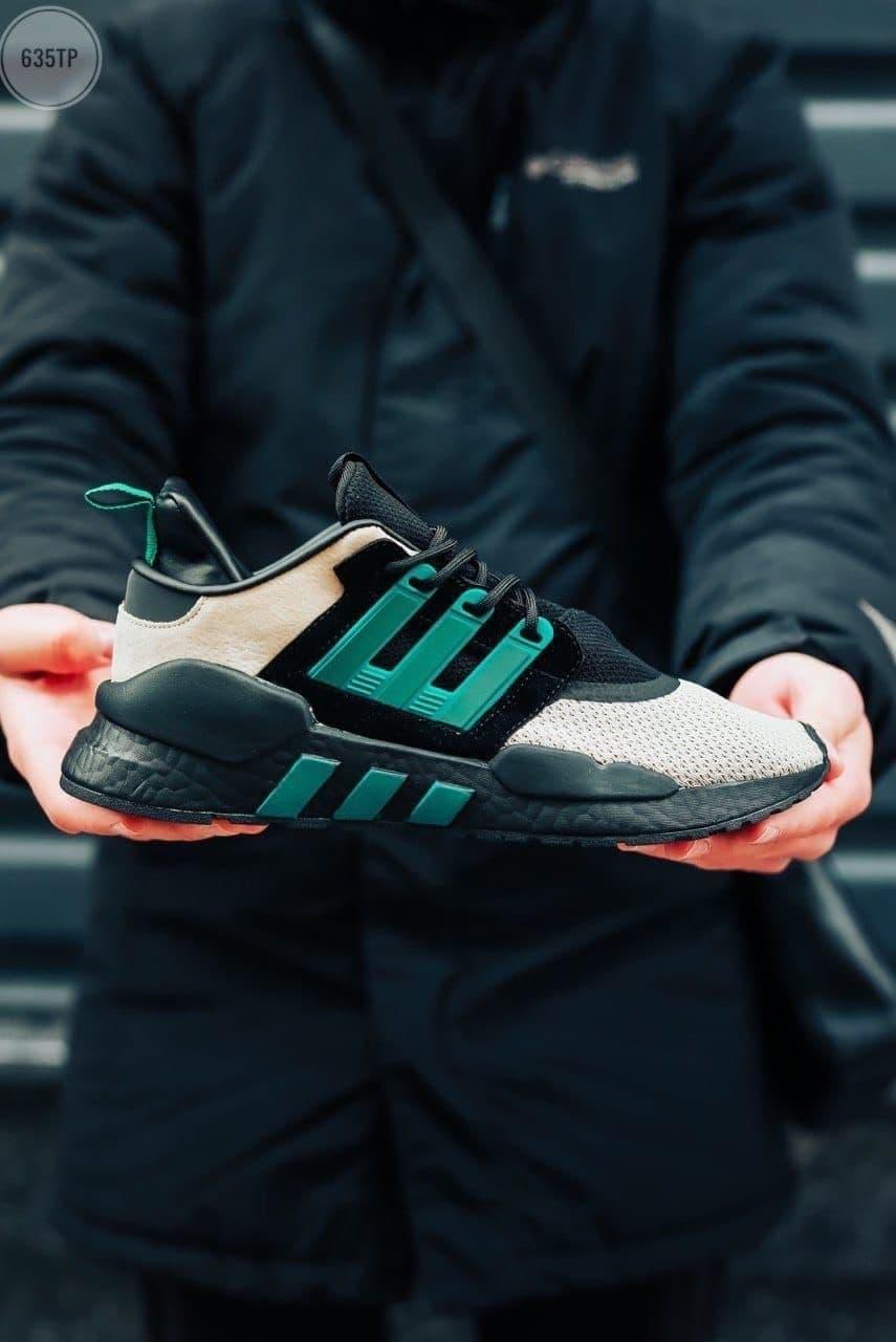 Мужские кроссовки Adidas EQT (разноцветные) 635TP текстильная крутая легкая обувь