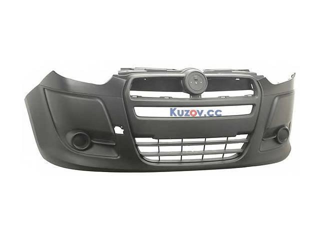 Передній бампер Fiat Doblo 10 - без отворів під (FPS) 735512752