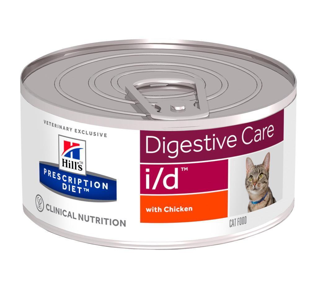 """Консервы для кошек Hill's """"I/D"""", диетические, для лечения заболеваний ЖКТ, с курицей, 156 г"""