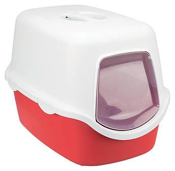Туалет бокс для кошек ВІКО (Vico) коралово/белый