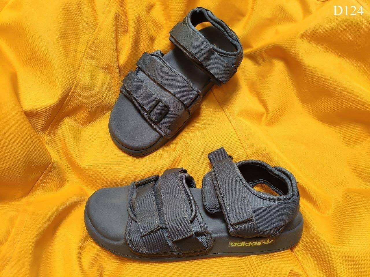 Мужские летние сандалии Adidas (серые) D124 легкая мягкая обувь для парней