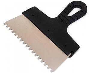 Шпатель для клея, зубчатый 6х6 200mm Полакс