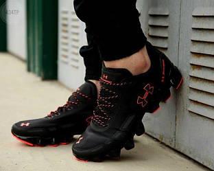 Мужские кроссовки Under Armour Scorpio Running shoes (черные с красным) повседневная крутая обувь 434TP