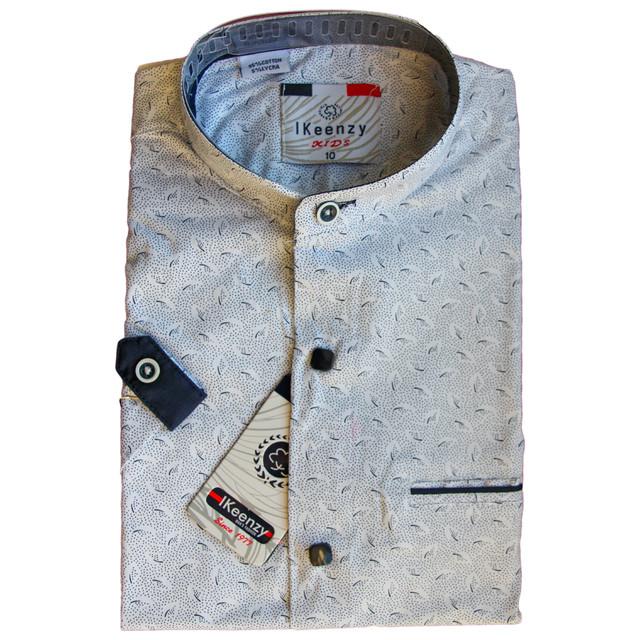 школьная рубашка с коротким рукавом серая