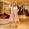 Жіноче красиве літнє бавовняне плаття у великому розмірі, фото 4