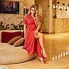 Женское летнее платье на запах в горошек, большой размер!, фото 2
