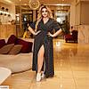 Женское летнее платье на запах в горошек, большой размер!, фото 3