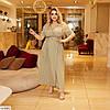 Женское летнее платье на запах в горошек, большой размер!, фото 7