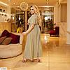 Женское летнее платье на запах в горошек, большой размер!, фото 8