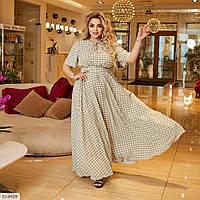 Женское шикарное платье в пол большого размера!