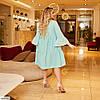 Жіноче ошатне літнє плаття з довгим рукавом і рубашечным верхи, великий розмір, фото 2