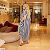 Женское летнее платье с ассиметрией в полоску, большой размер!, фото 4