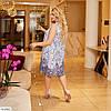 Жіноча літнє, легке шифонове плаття по коліно, великий розмір!, фото 2